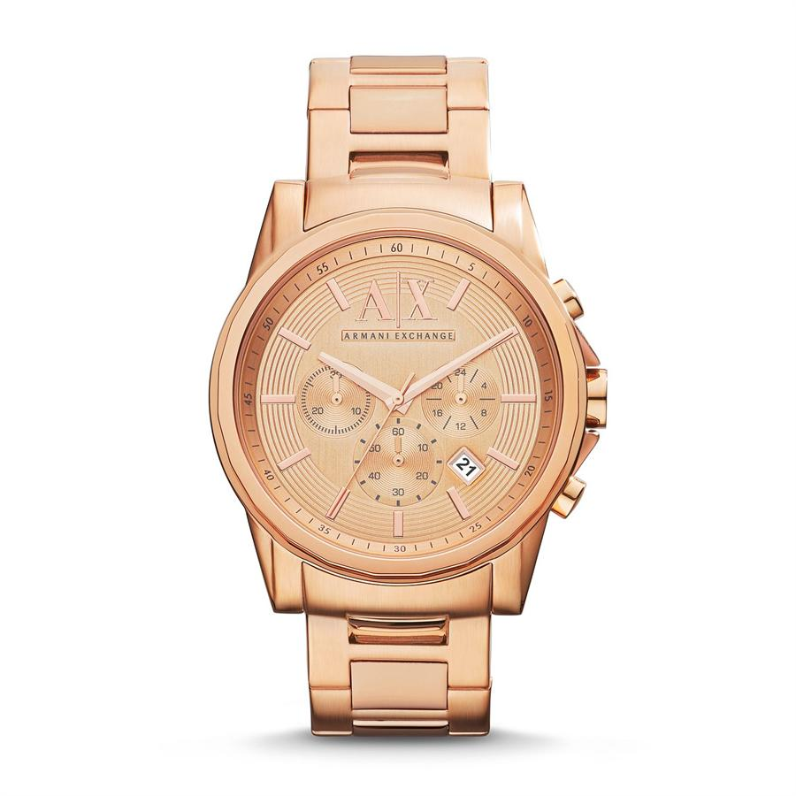 armani exchange ax2502 chronograph gold bracelet