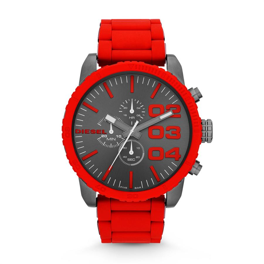 DZ4289 Mens Red Double Down Series Analog Display And Quartz Watch