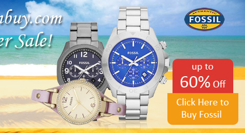 Save up to 60% on all Fossil Watches during our Summer Sale